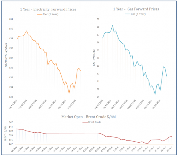 Energy Price Graph - 01-02-2016
