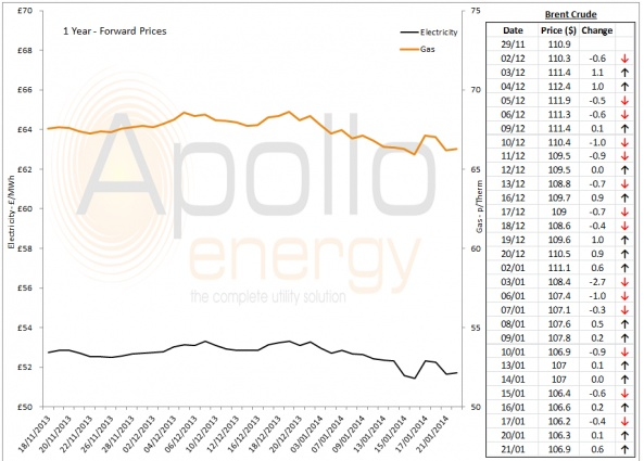 Energy Market Analysis - 21-01-2014