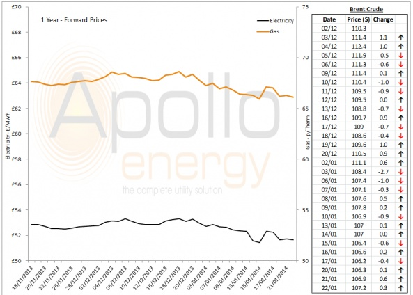 Energy Market Analysis - 22-01-2014