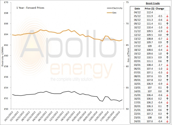 Energy Market Analysis - 24-01-2014