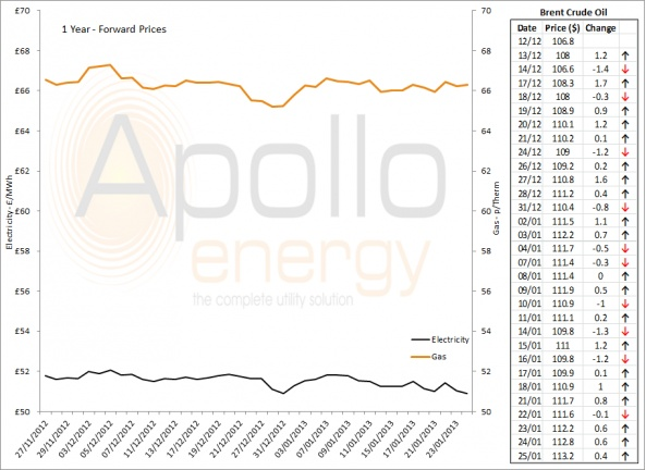 Energy Market Analysis - 25-01-2013