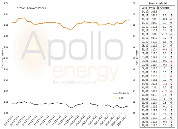 Energy Market Analysis - 29-01-2013